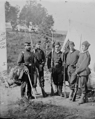 Unidentified members of 4th Michigan; fall of 1861