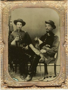 Capt. Charles J. Fox at left & unidentified officer; David Finney Collection