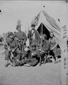 4th Michigan Infantry Camp Scene; Library of Congress