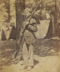 Unidentified Member of 4th Michigan in Camp A; USHEC