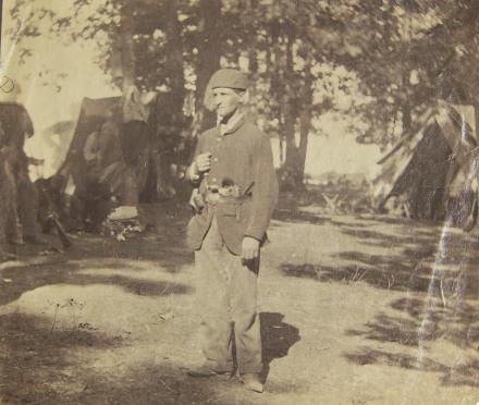Unidentified Member of 4th Michigan in Camp C; USHEC