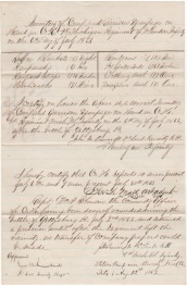 Lt. John Bancroft of Co. H filed this Equipment Inventory following the Battle of Gettysburg. It reveals only 10 men reporting for duty. Bancroft was left in command of Co. H after Capt. William F. Robinson was wounded and taken prisoner.