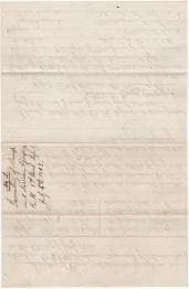 Reverse of Lt. John Bancroft's Equipment Inventory of 6 July 1863