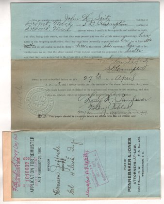 Jeffords letter dated 4-27-1905 (a)