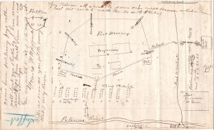 Lieutenant Harrison Jeffords penned this drawing for a letter that he wrote on September 21, 1861.