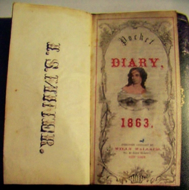 Cover Page from Irvin S. Miner Diary