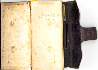 Inside Cover of Edgar Noble's Diary