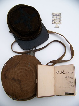 A group of items that once belonged to Lt. Moses Carleton