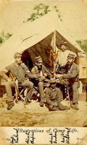Co. I Non-com. officers in October of 1861 (from l-r) Sgt. Michael Vreeland, Lt. Marshall Chapin, Lt. John A. Gordon, Sgt. Wm . H. Stoddard; Auburn University Libraries
