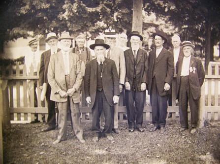 GAR veterans at Hudson, Mich. circa 1900; Hudson Hist. Museum