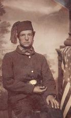 A patriotic unidentified 4th Mich. soldier