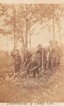 Men of the Fourth Michigan Infantry out on picket.