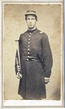 An unidentified member of the Reog. 4th Mich. Inf. band