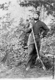 Unknown soldier of the Fourth Mich. Inf. (Brady Ill. of Camp Life image)
