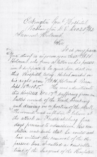Holcomb letter dated 12-21-1862 (a)