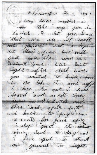 Osborn letter dated 11-2-1861 (a)