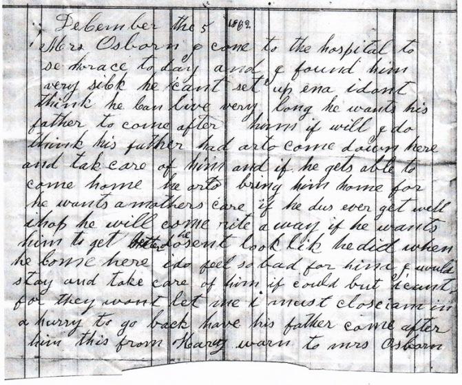 Osborn letter dated 12-5-1862
