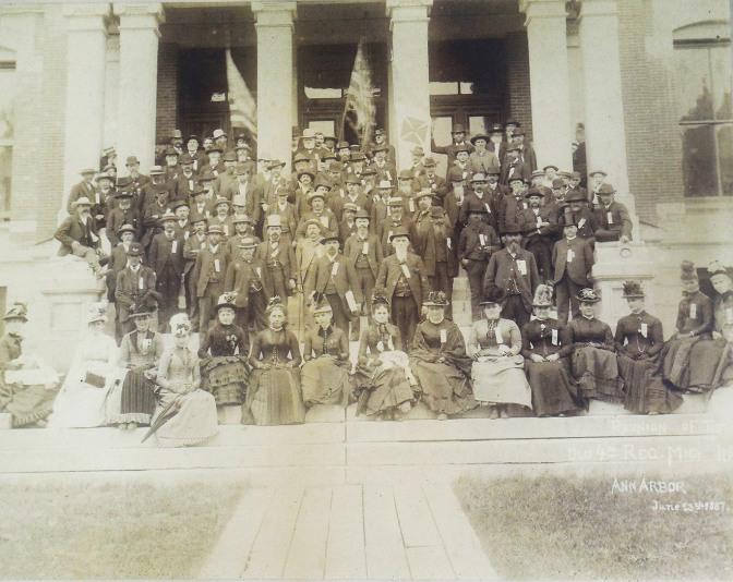 Fourth Mich Reunion in Ann Arbor, Michigan in 1887