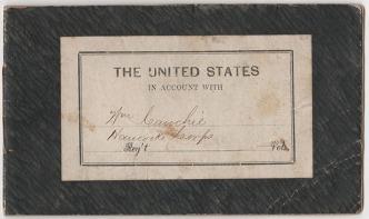 Rare Soldier's Account Booklet for William Cauchie
