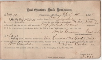 Wiiliam Cauchie's account was opened on April 14, 1865 with a deposit made for the amount of $249.70. On this same date President Abraham Lincoln would be shot in Washington D.C.