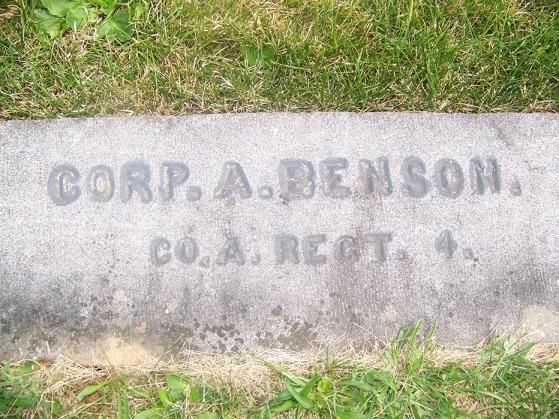 Adelbert Benson grave marker