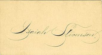 Isiah Stevenson calling card