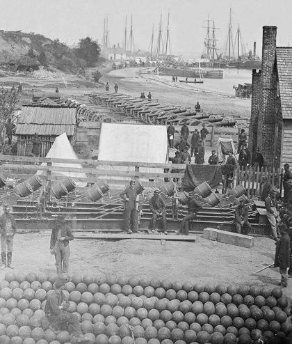 Artillery at Yorktown, Virginia May of 1862