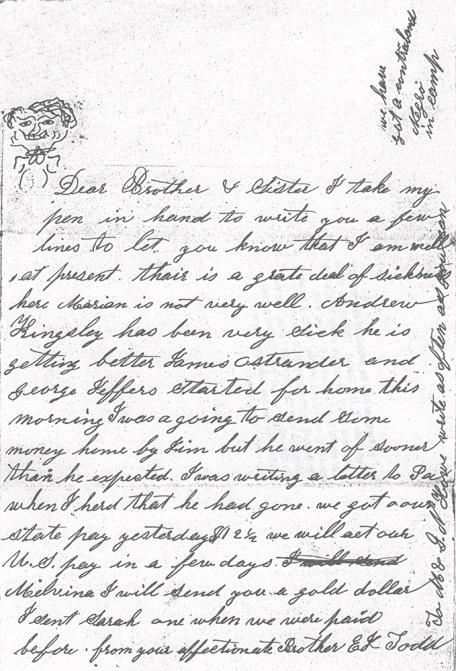 Elum Todd letter 9-8-1861