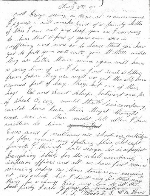 James Woods letter 8-8-1861