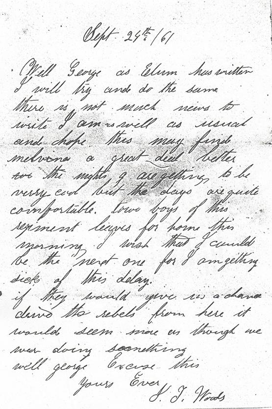 James Woods letter 9-24-1861