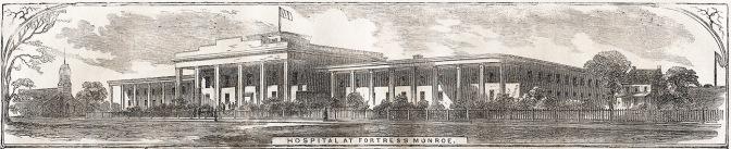 June 7, 1862 Harper's Weekly engravings of Hospital at Fortress Monroe
