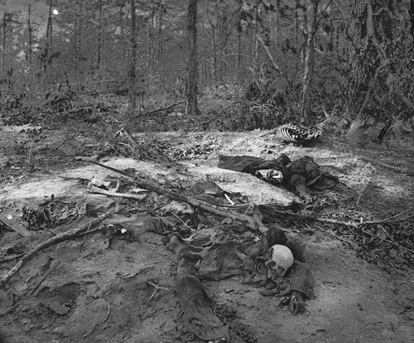 The unburied dead from the Gaine's Mill, Virginia battlefield