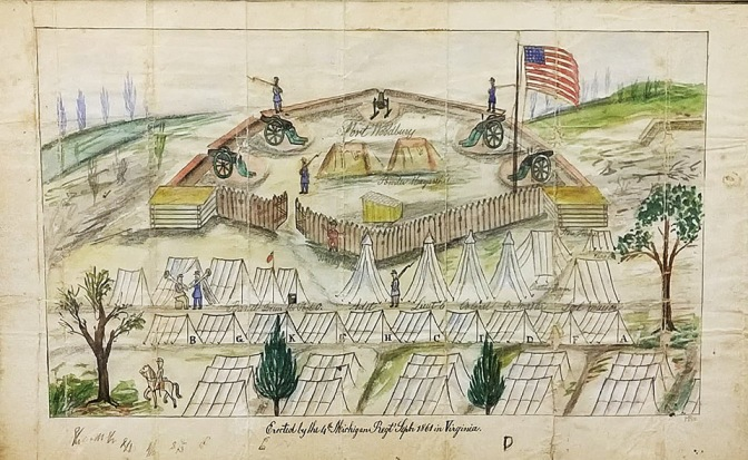 Fort Woodbury drawing (Twiss Collection) site