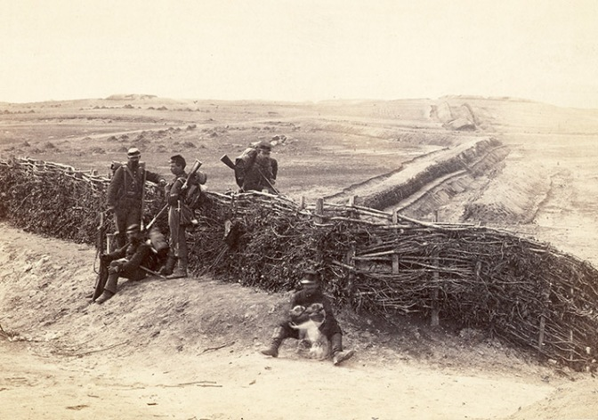 Fortifications on the Heights at Centerville, Virginia March of 1862 ~