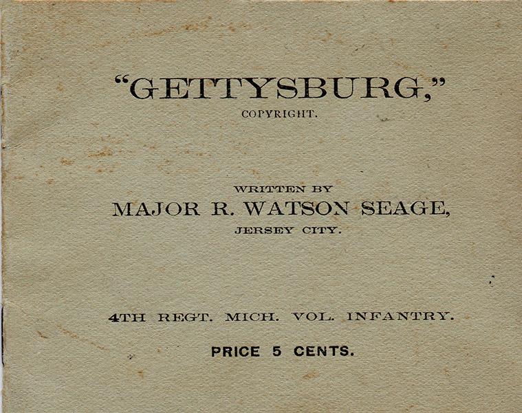 Gettysburg dedication booklet