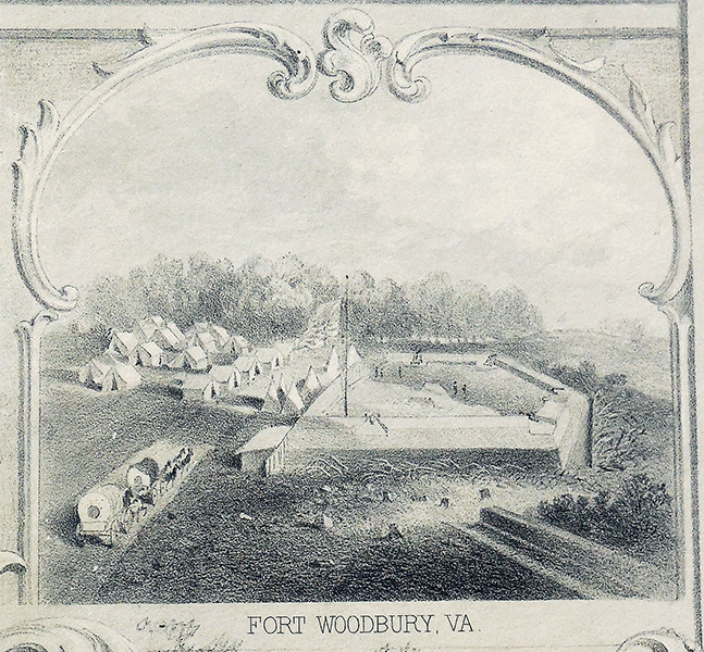 Fort Woodbury by Lt. Charles Gruner