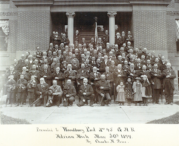 Woodbury Post in Adrian, Michigan 1894 (FB)