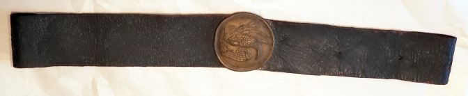 Exterior view of a NCO or Musician's Baldric that has been modified for use as a musician's belt.