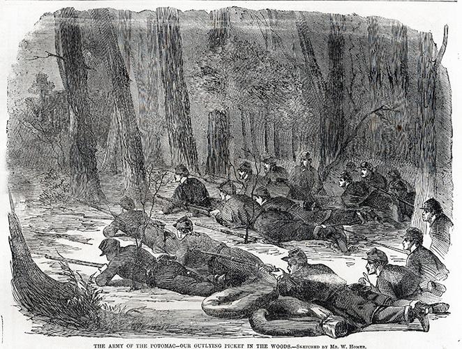June 7, 1862 Harper's Weekly Picket Duty Engravings