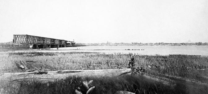 The Long Bridge at Washington 1861 LOC ~