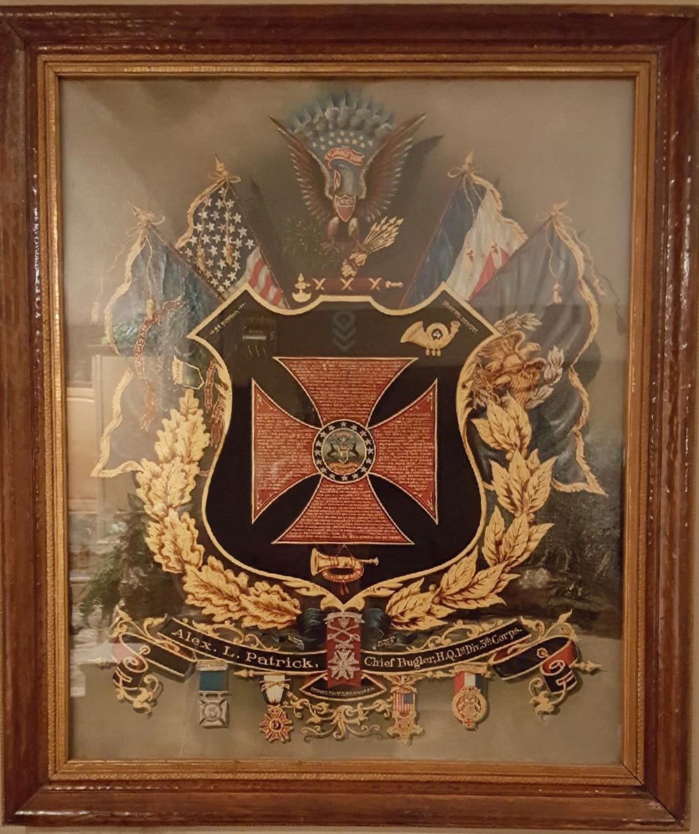Alexander Patrick escutcheon (Dave Finney Collection)
