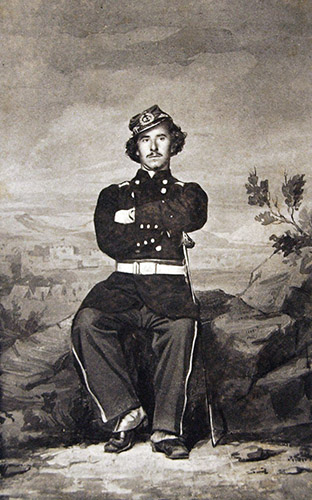 Colonel Elmer Ellsworth of the First Fire Zouaves