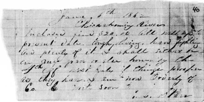 Eli Starr letter dated 6-6-1862