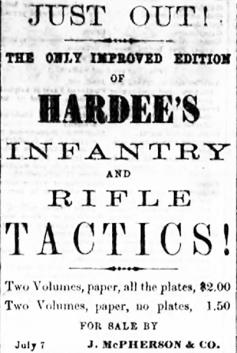 July 7, 1861 Hardee's Tactics maunual advertisement~