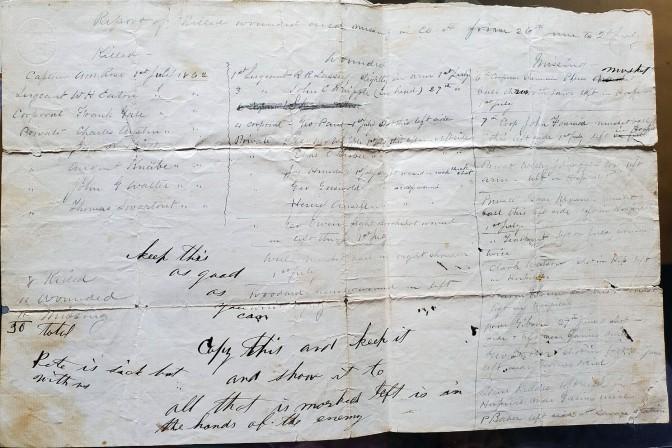 Richard Lassey note dated 6-27-1862 till 7-1-1862