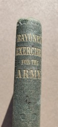 """Captain David Marshall's personal copy of the manual """" Bayonet Excercise for the Army"""" by Major General George McClellan"""
